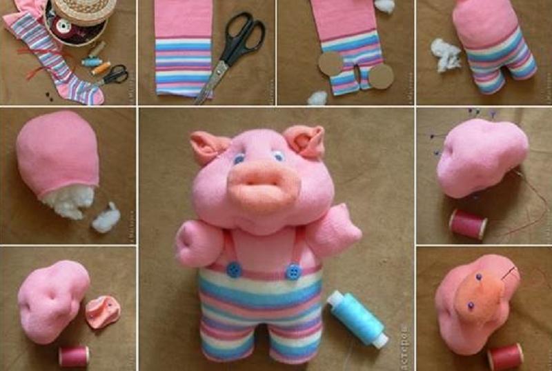 bricoler une chaussette pour en faire un cochon mignon diy pinterest cochons mignons. Black Bedroom Furniture Sets. Home Design Ideas