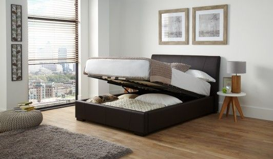 Super 135Cm Bedstead Vegas Brown Front Opening Ottoman Bedroom Dailytribune Chair Design For Home Dailytribuneorg