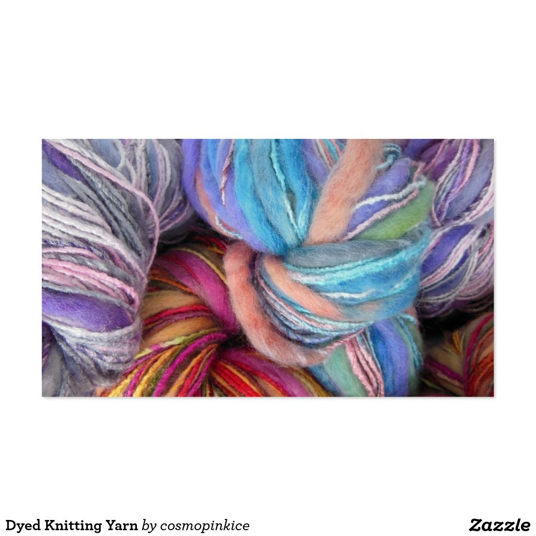 Dyed knitting yarn business card yarns easy knitting and business dyed knitting yarn business card magicingreecefo Image collections