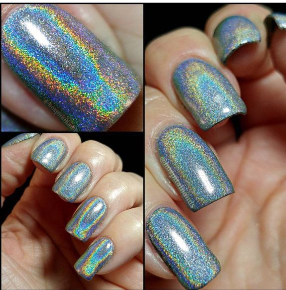Extra Fine Holographic Chrome Nail Art Powder: 50 Micron Unicorn Powder Spectraflair Alternative Ultra