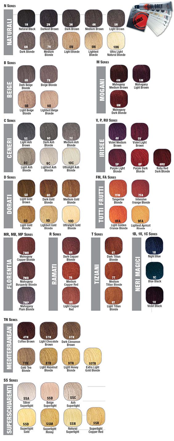 Colorly Hair Color Chart Hairstyle Inspirations 2018