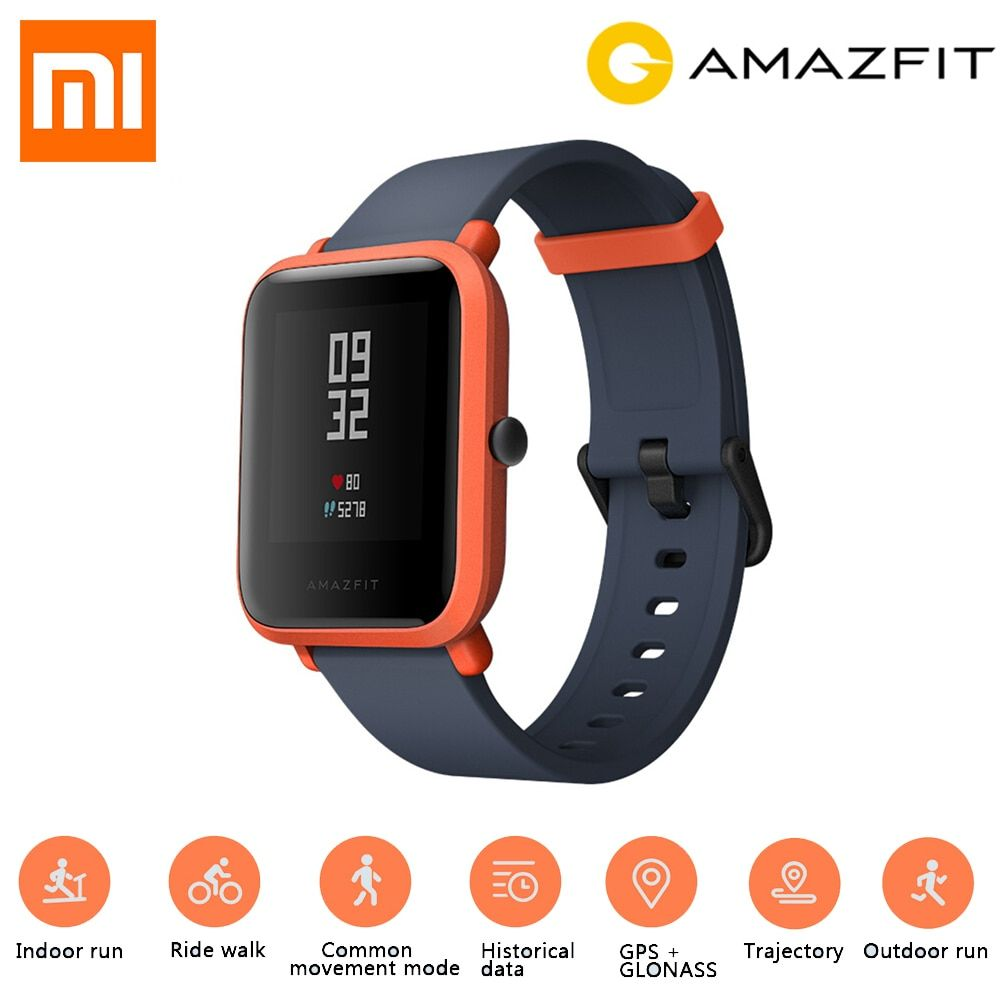 English Version Xiaomi Huami Amazfit Bip Smart Watch Gps Gloness Smartwatch Smart Watch Watch Bluetooth 4 0 45 Days Sta Smart Watch Smart Watch Apple Gps Watch