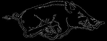 razorback logo outline arkansas razorback clip art tshirt makers rh pinterest com razorback clipart black and white razorback clip art with heart