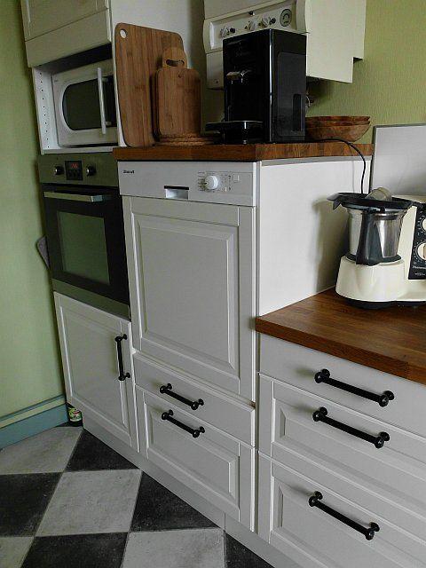Cuisine IKEA et lave-vaisselle en hauteur vintage home Pinterest - Hauteur Plan De Travail Cuisine Ikea