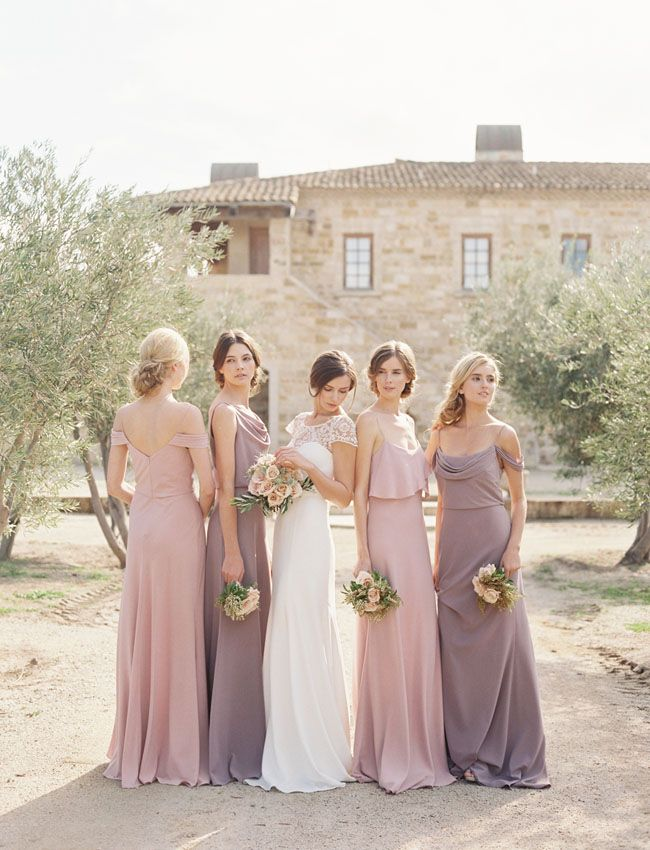 Love These Colors Breezy Lavender Colored Bridesmaid Dresses For A Summer Wedding
