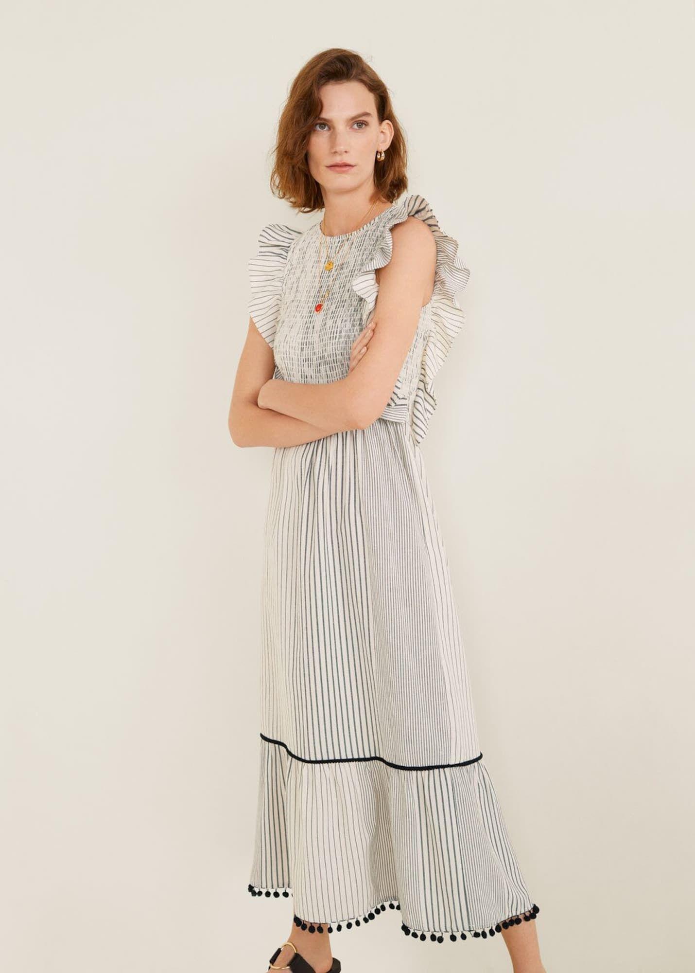 MANGO Kleid 'Edith-I' Damen, Schwarz / Weiß, Größe 38 ...