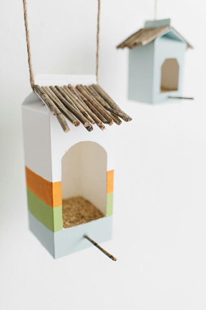 1001 ideen zum thema nistkasten selber bauen basteln vogelhaus basteln milchkarton. Black Bedroom Furniture Sets. Home Design Ideas