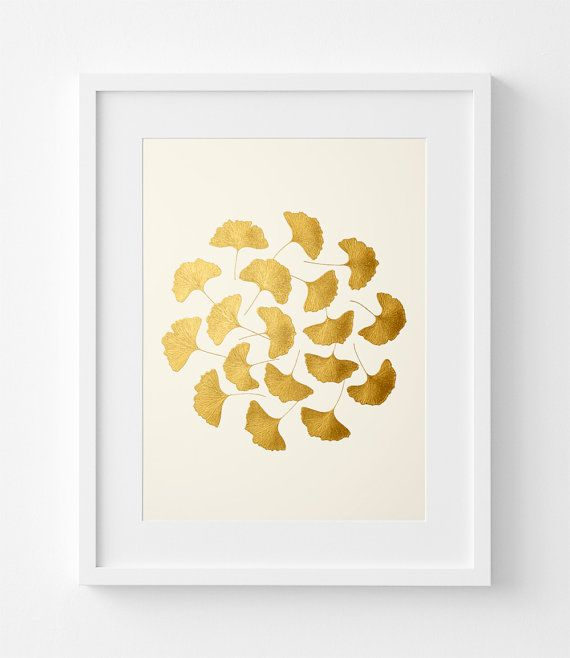 Ginkgo Leaves – Gold Leaves – Original Painting – Handmade 6 ...