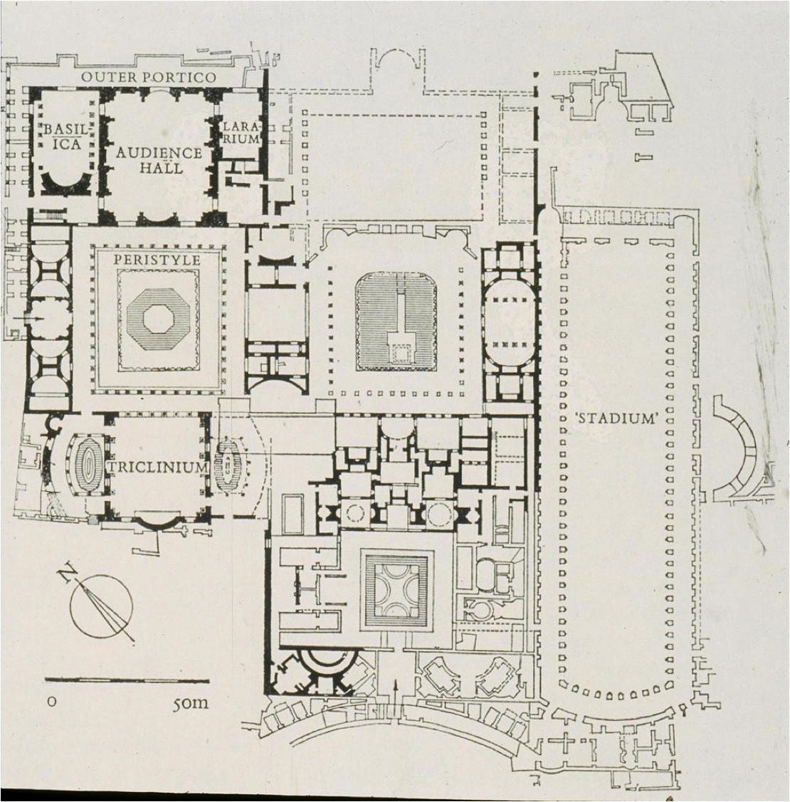 Plan flavian palace domus augustana rome history of for Palace plan