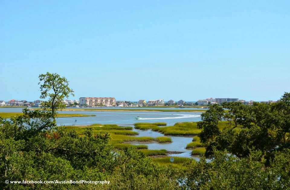 View from the Widow's Walk Rooftop at The Inlet Sports Lodge - Murrells Inlet, SC; 1 mile south of the Marshwalk & Marina; photography by Austin Bond