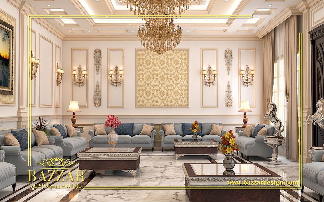 تصميم نيو كلاسيك لمجلس رجال ذو خطوط عصرية واضحة وجدران ذات الوان هادئة وزخارف عصرية ذات تفاصيل متقنة New C Tiny House Furniture Home Room Design House Interior