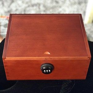 Dark Wood Stash Box with Lock Locking stash box with | Etsy