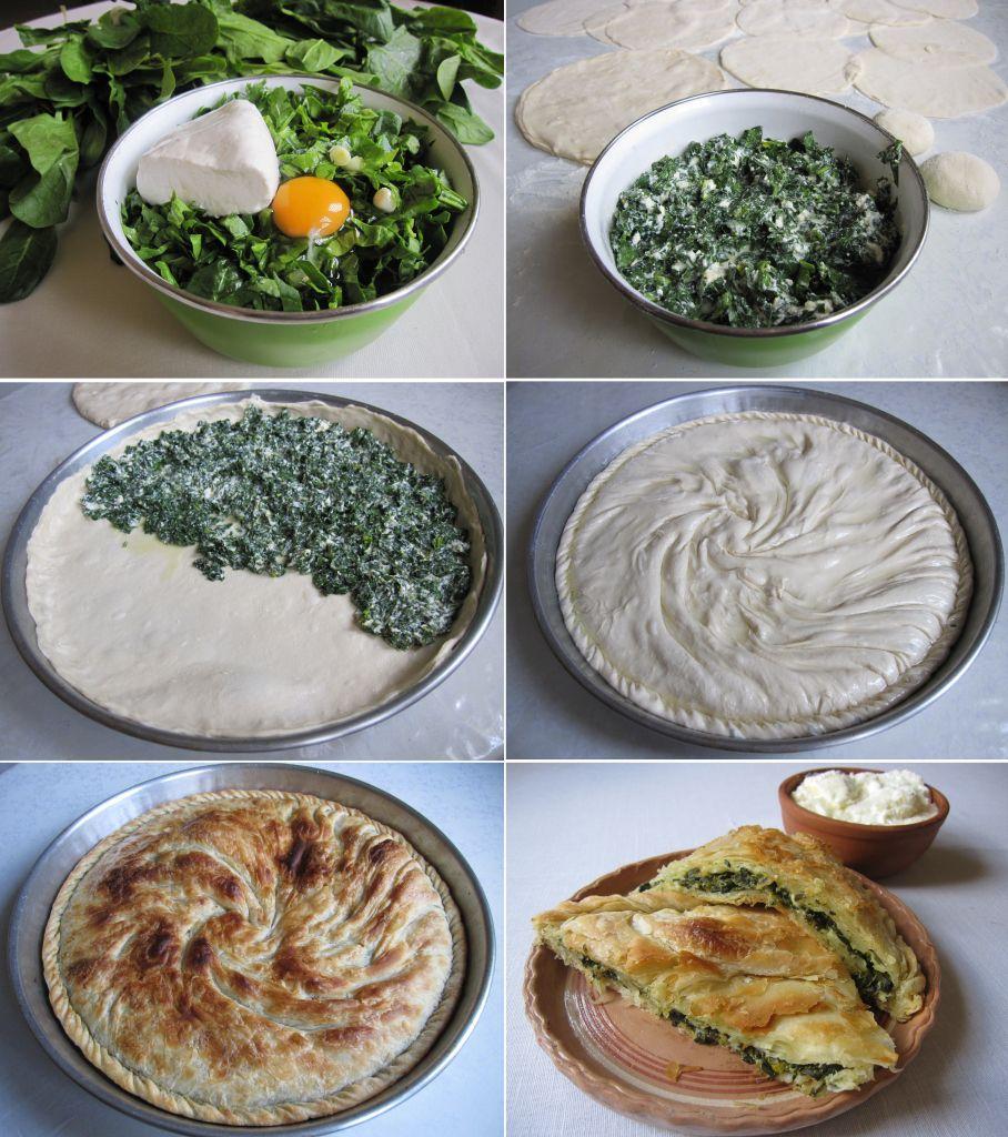 Receta e plote e pergatitjes se pites me spinaq nje byrek for Albanian cuisine kuzhina shqiptare photos