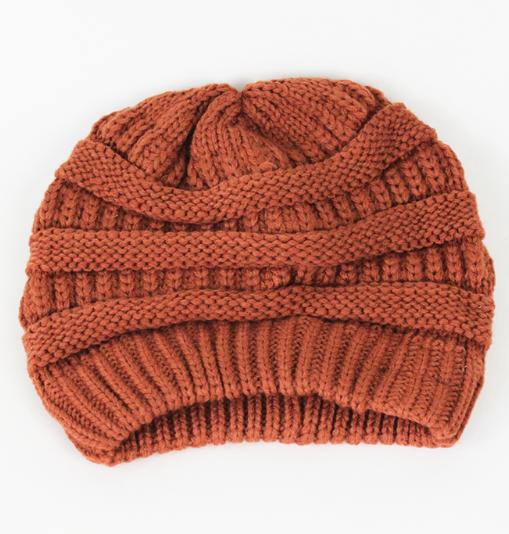 Willow Beanie in Amber. $22