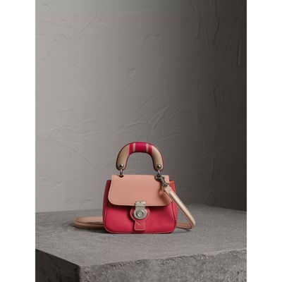 BURBERRY The Mini DK88 Top Handle Bag with Geometric Print. #burberry #bags #shoulder bags #hand bags #polyester #leather #lining #