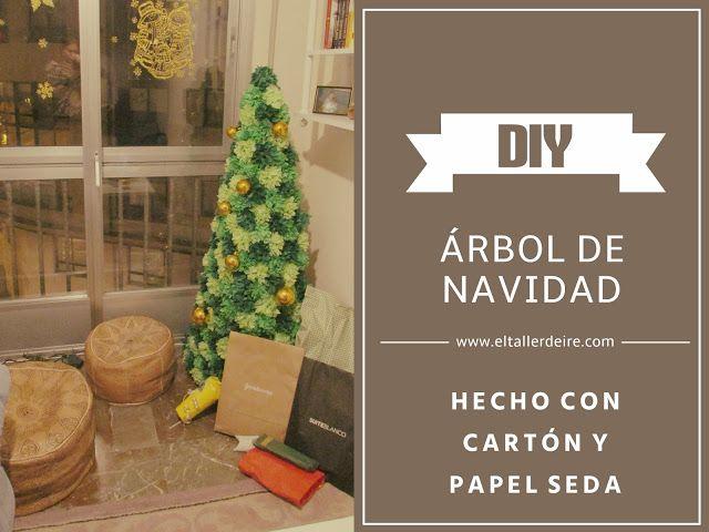 El taller de Ire: Cómo hacer un árbol de Navidad con cartón y papel seda