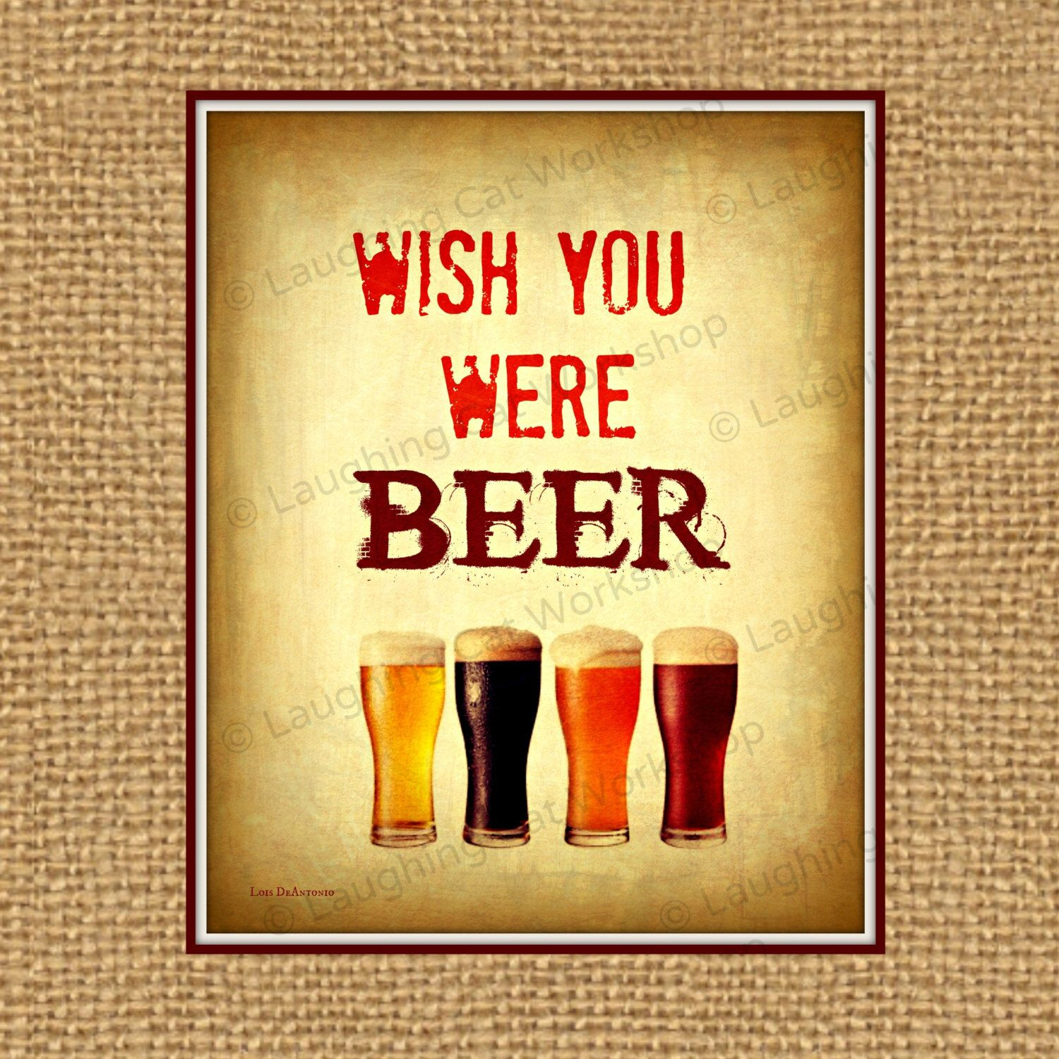 Funny Bar sign Country Western Beer Party Sign Rustic wall art Beer ...