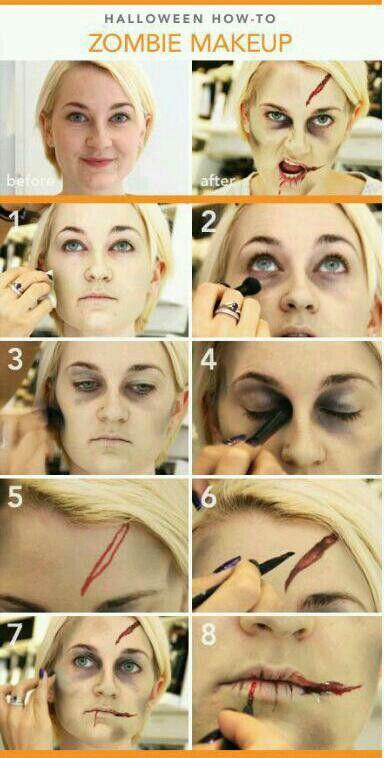 Half glam/ half zombie halloween makeup tutorial | fashionisers©.