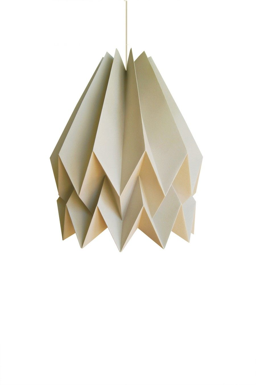Handcrafted Origami Inspired Lampshade Adding A Stylish Touch