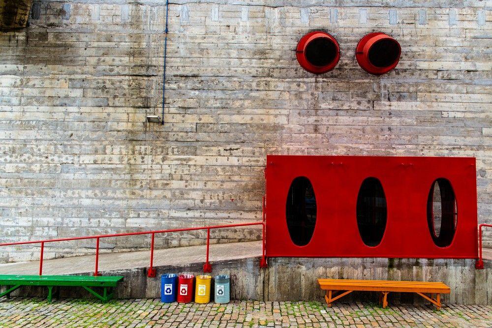 """Ensaio fotográfico """"Sesc Pompeia, Concreto Vermelho – 2013""""-lina bo bardi"""