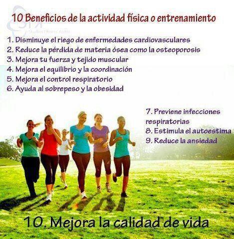 10 Beneficios De La Actividad Física Actividades Físicas Fuerza Muscular Actividades