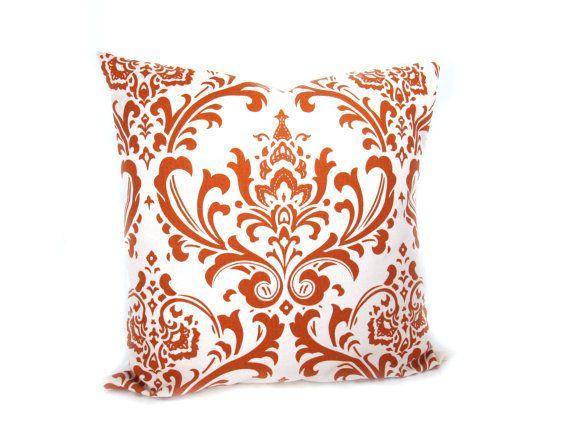 Orange Pillow Cover Decorative Throw Pillows Burnt Orange ...