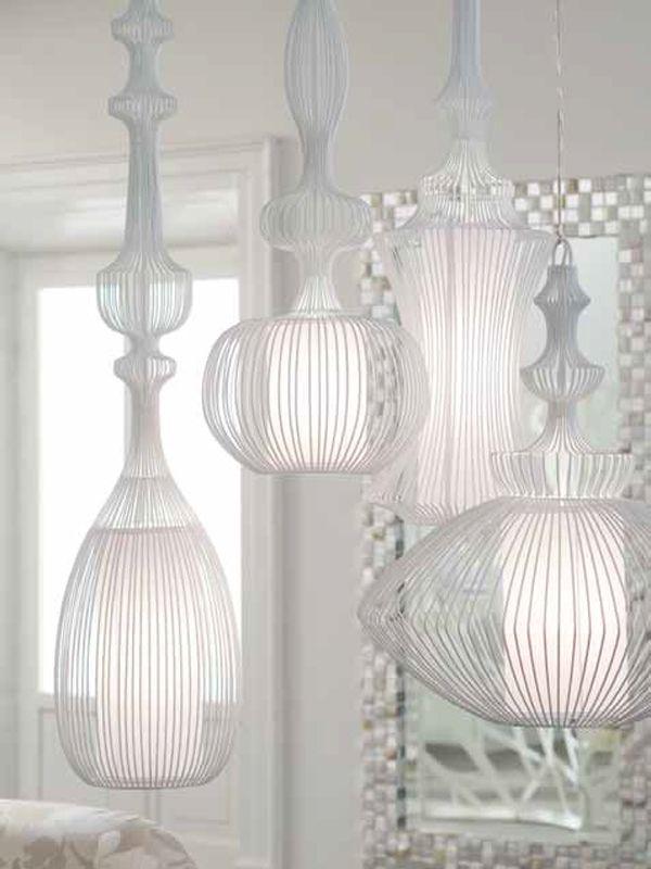 Iron Pendant lamp WIRE by ELITE | #Design Nada Lin #light #white ...