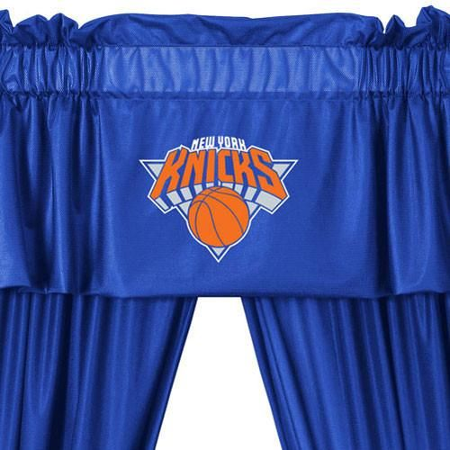 NBA New York Knicks 5pc Curtains and Valance Set: 63drop