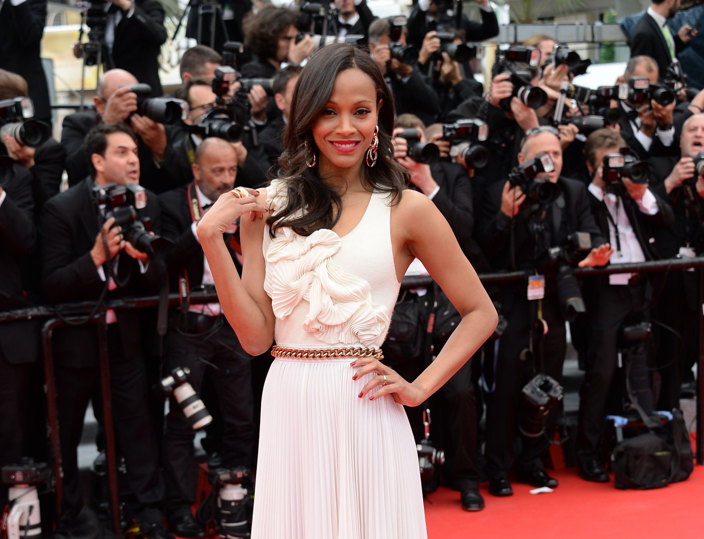 Zoe Saldana Festival de Cannes, 14.05.2014. Make up L