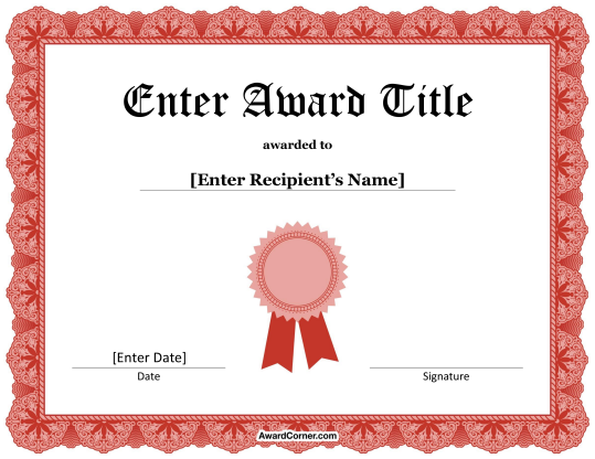 Pin By Muse Printables On Certificate Templates At Awardcorner