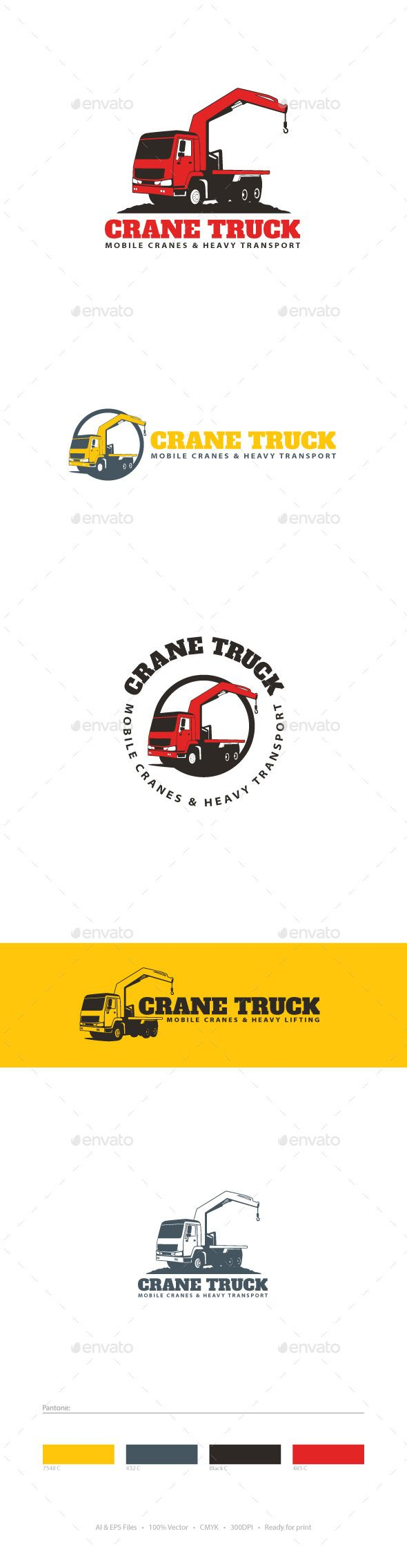 Crane Truck Logo Template | Logo templates, Logos and Template