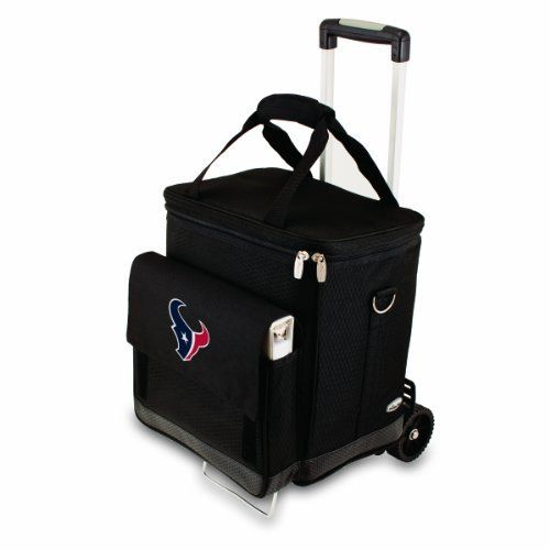 Nfl Houston Texans Insulated Cellar Six Bottle Wine Tote With Trolley By Picnic Time 99 95 This Nfl Cellar With Trolley I Picnic Tote Wine Tote Wine Carrier