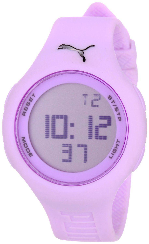 bc24e82c6200 PUMA Women's PU910801011 Loop Light Purple Digital Watch | Things I ...