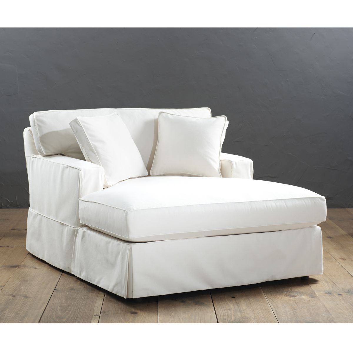 Lee Industries C3621 21 Slipcovered Chaise Furniture Upholstered Furniture Slipcovers