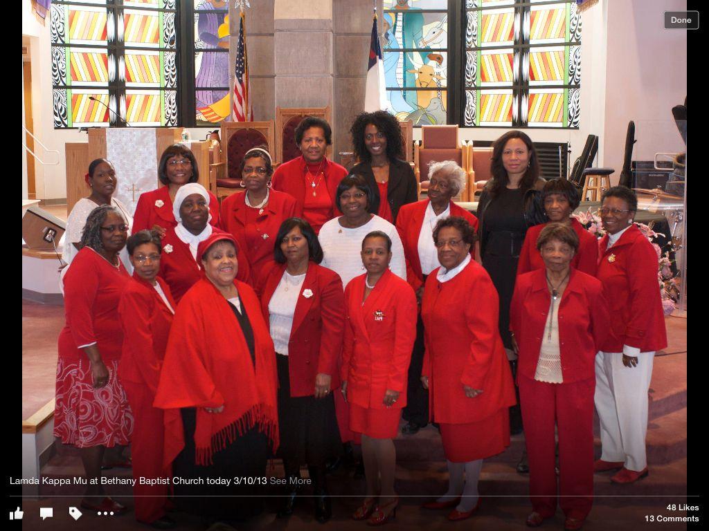 Sunday service at Bethany Baptist Church