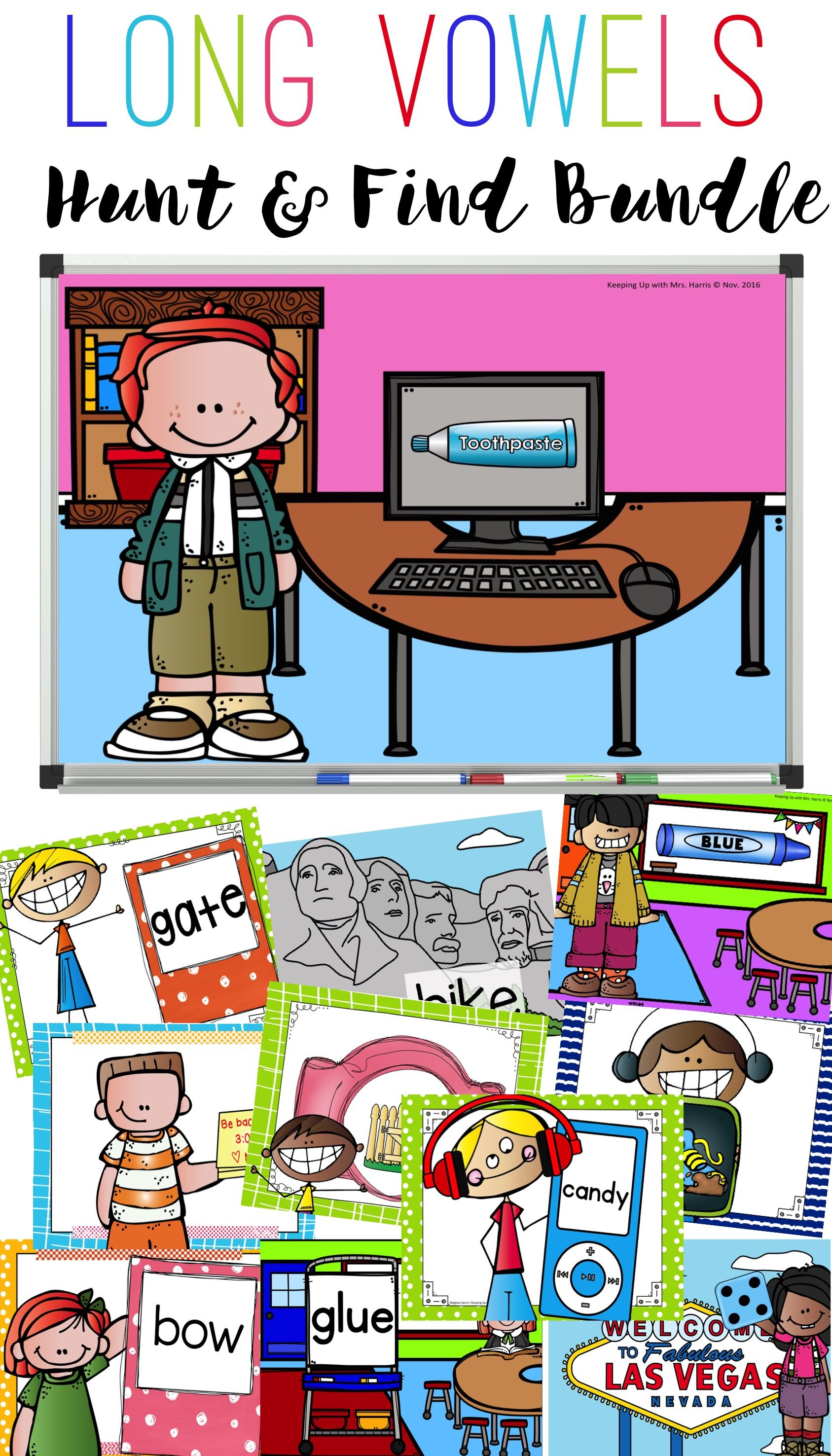 Long Vowel Hunt Amp Find Powerpoint Game
