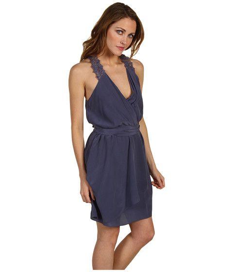 Rebecca Taylor Cross Front Eyelet Dress Denim - 6pm.com