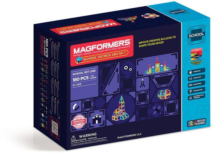 MAGFORMERS Magformers School Series 180 PC  Set | Peanut 9 b