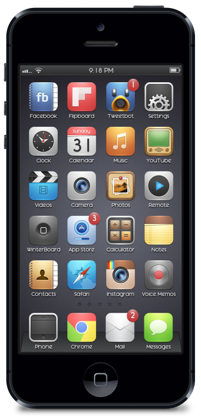 10 Best Cydia Themes for iPhone Custom icons, Iphone, Theme