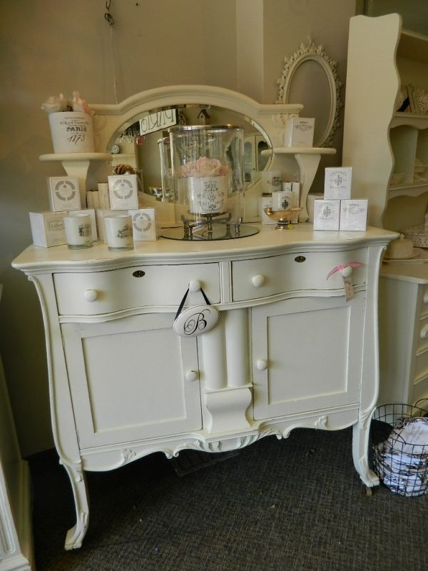 Antique sideboard with oval mirror backsplash | Diy ...