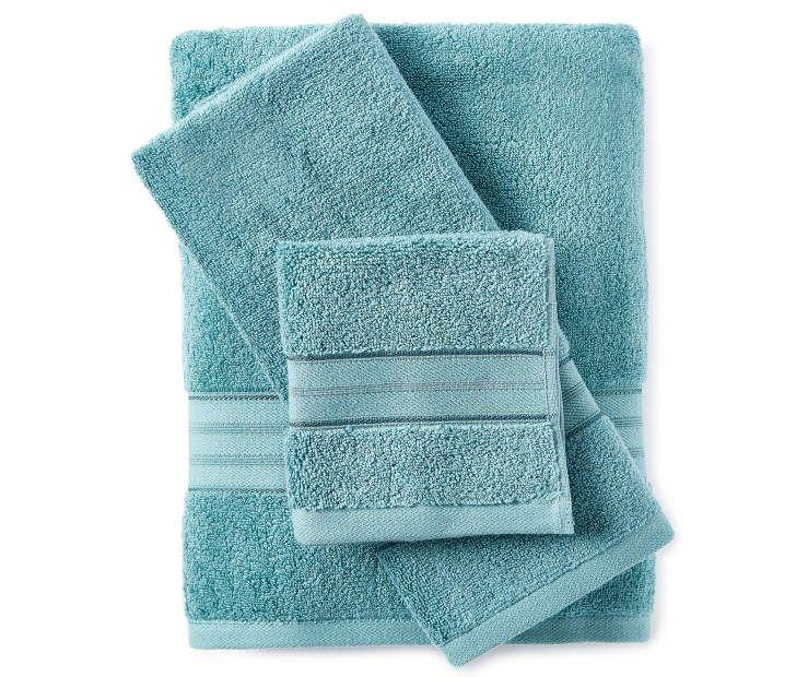 Living Colors Mineral Blue 6 Piece Towel Set Towel Set Blue Bathroom Decor Towel