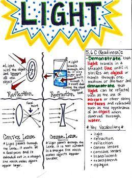 5th Grade Properties of Light | 8th grade science, Science