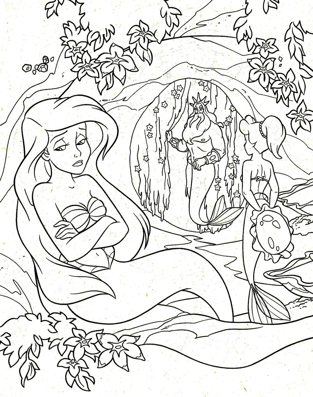 Princess coloring pages little mermaid