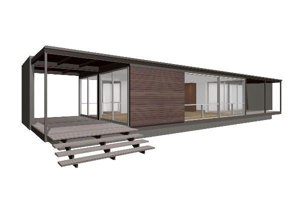 Prefab woningen architectuur pinterest for Goedkope prefab woningen