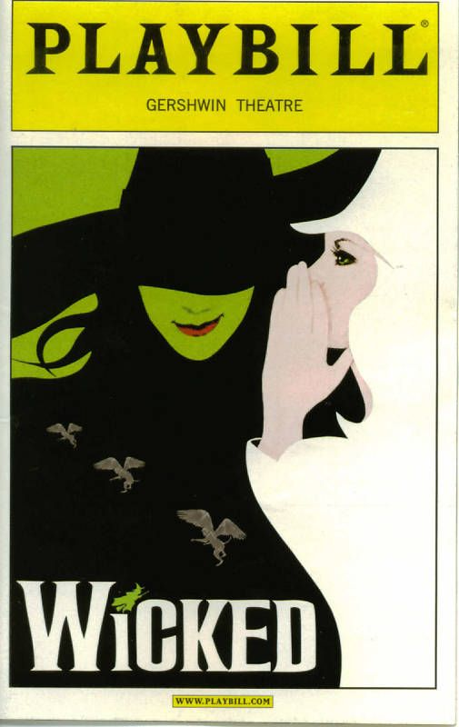 Wicked Playbill Musicals Broadway Broadway Plays