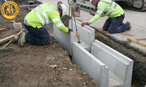 Drainage Precast Install concrete drainage precast to save the foundation of your house.