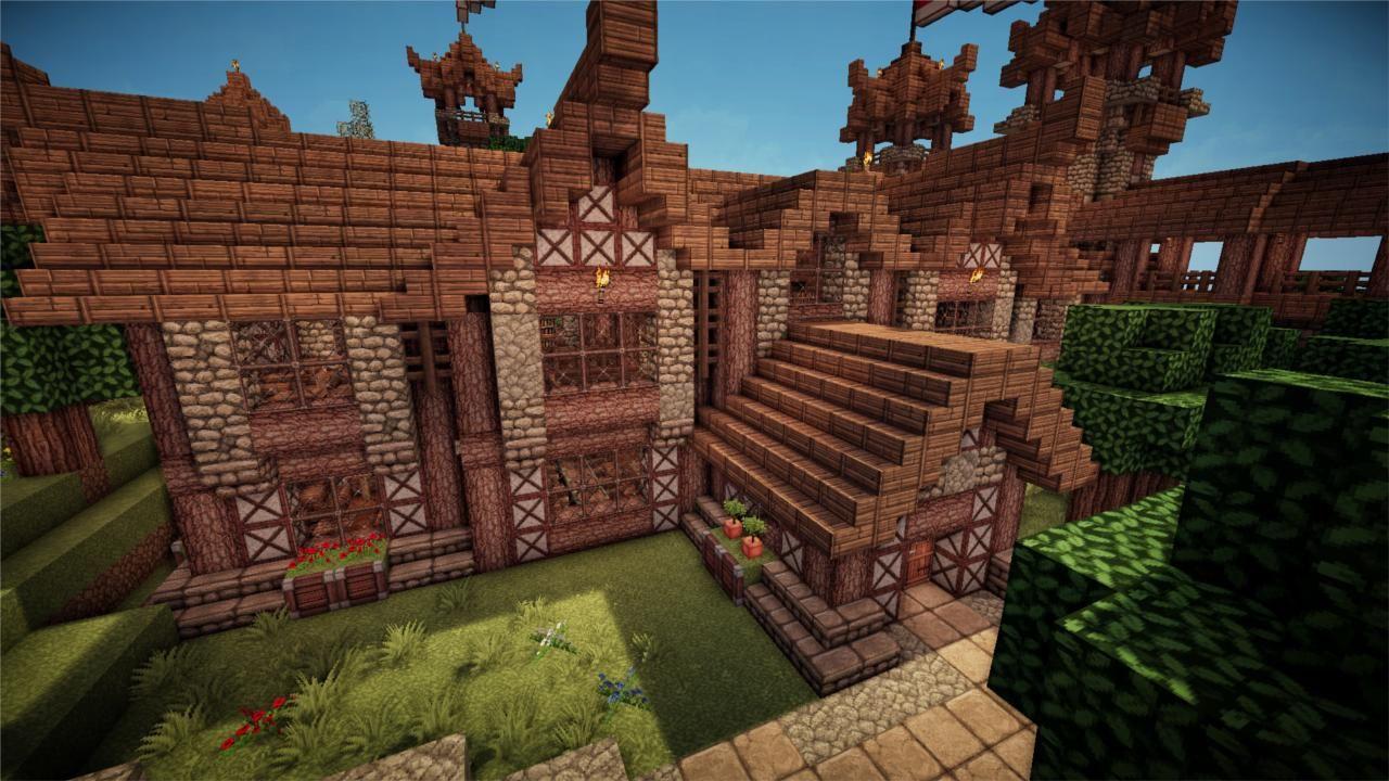 Minecraft - Medieval Library  Minecraft medieval, Minecraft, Cool