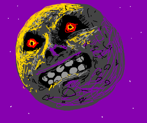 The Moon From Majora S Mask Panel By Bastardio Majoras Mask Mask Drawing Drawings