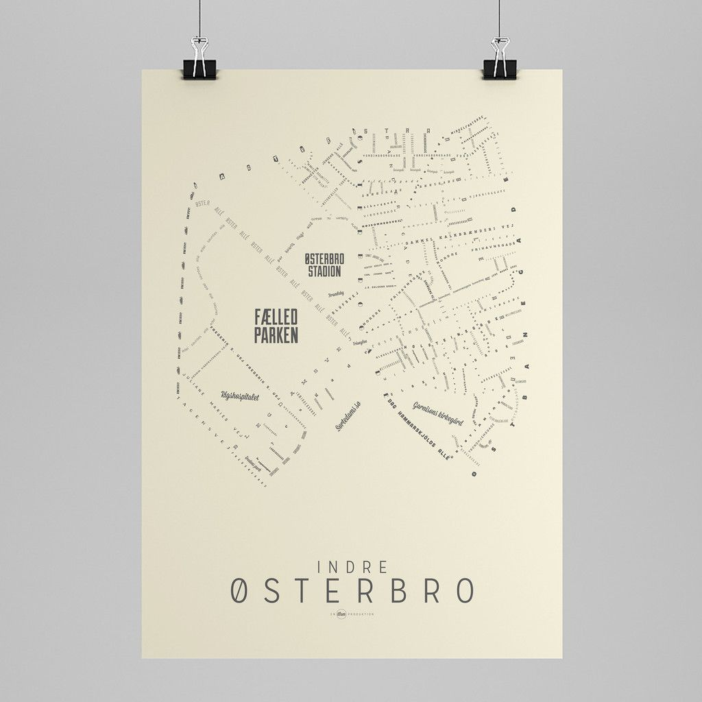Map of Indre Østerbro