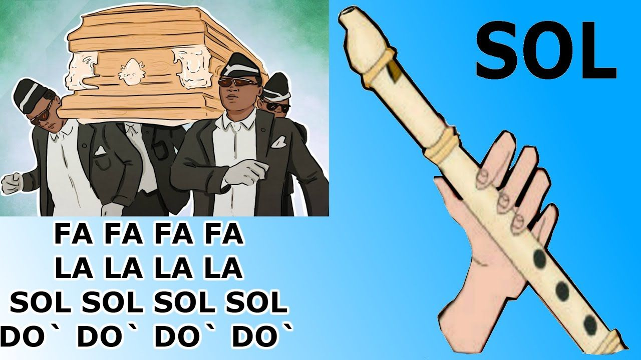 Meme Ataud Flauta Dulce Facil Tutorial Con Animacion Coffin Dance Mem Flauta Memes Notas Musicales